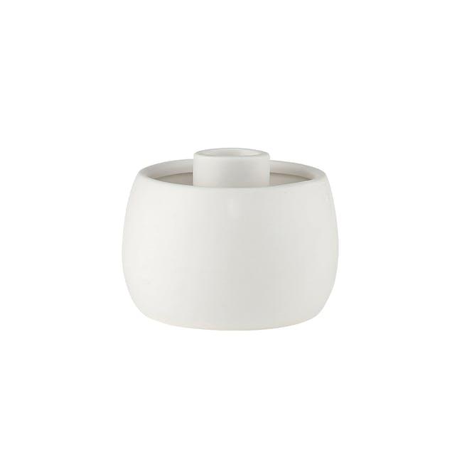 Ovo Candle Holder - Eggshell - 0