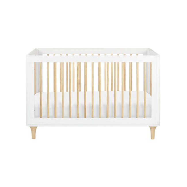 Babyletto Lolly 3-in-1 Convertible Crib - White & Natural - 0