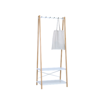 Hart Clothes Rack - Natural, White - Image 2