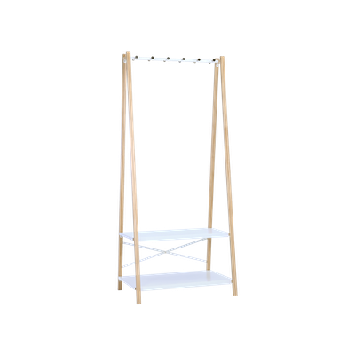 Hart Clothes Rack - Natural, White - Image 1