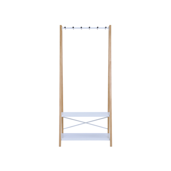 Laholm - Hart Clothes Rack - Natural, White