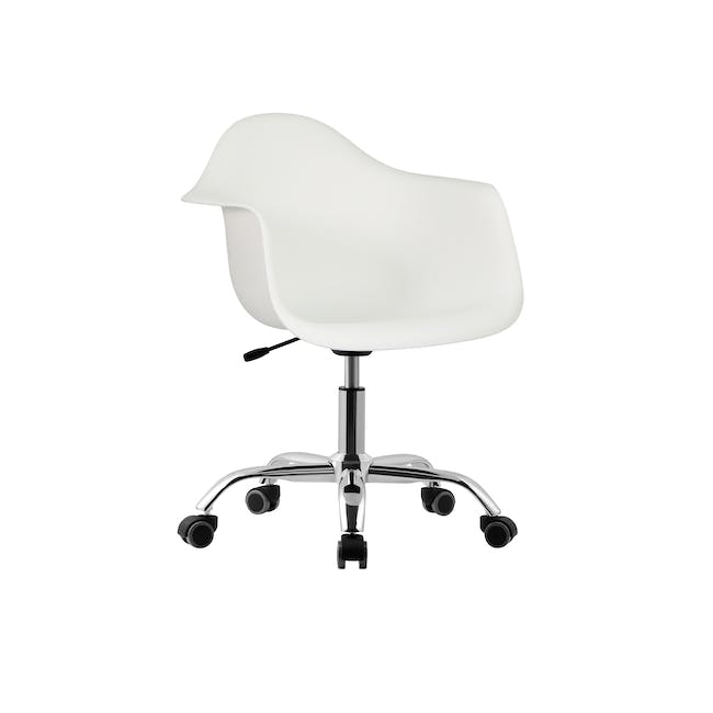 DAW Mid Back Office Chair - White - 0