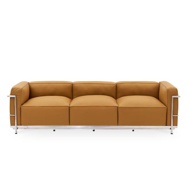 LC3 3 Seater Sofa Replica - Tan (Geuine Cowhide) - 0