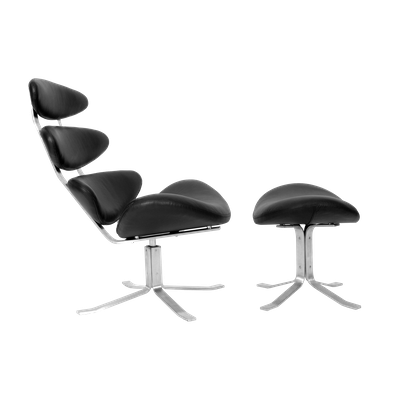 Corona Chair with Ottoman
