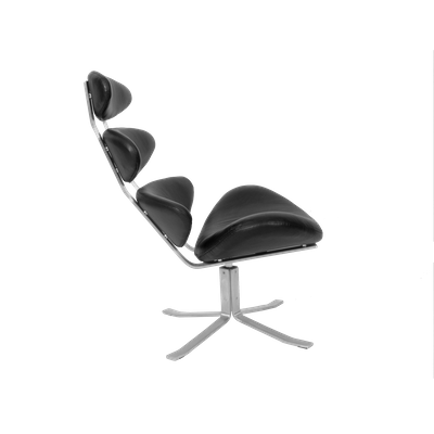 Corona Chair with Ottoman - Italian Leather - Image 2