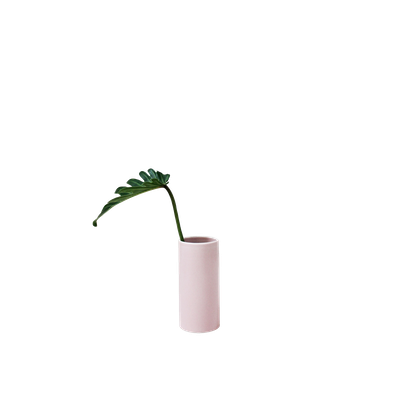 Nordic Matte Vase Small Straight Cylinder - Dusty Pink - Image 1