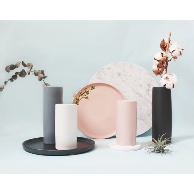 Nordic Matte Vase Small Straight Cylinder - Dusty Pink - 1