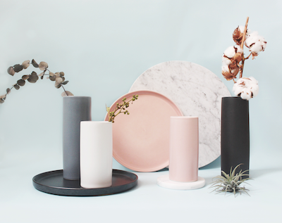 Nordic Matte Vase Small Straight Cylinder - Dusty Pink - Image 2