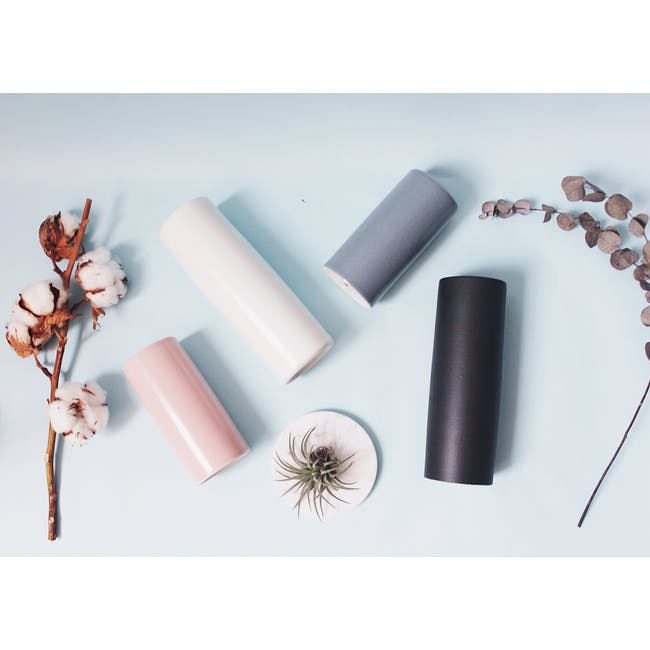 Nordic Matte Vase Small Straight Cylinder - Dusty Pink - 3
