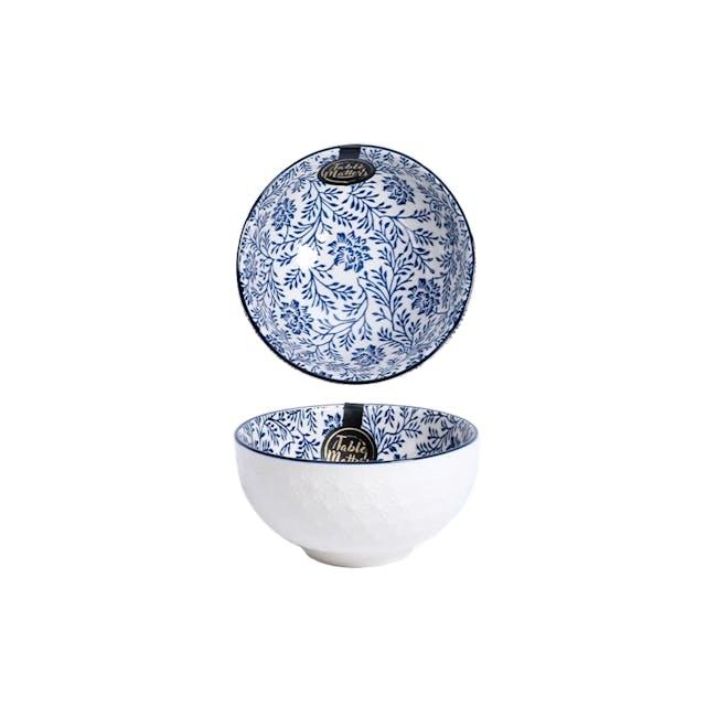 Table Matters Floral Blue Bowl (3 Sizes) - 0