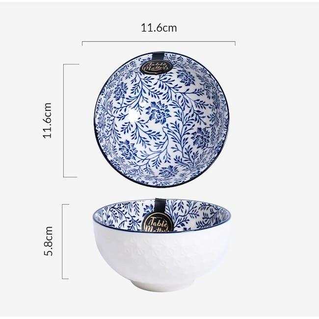 Table Matters Floral Blue Bowl (3 Sizes) - 2