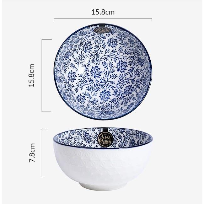 Table Matters Floral Blue Bowl (3 Sizes) - 3