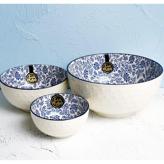 Table Matters Floral Blue Bowl (3 Sizes) - 1