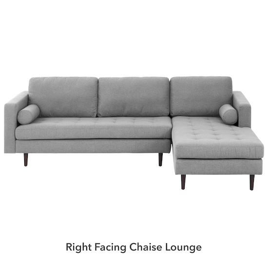 AK Avantgarde - Nolan L-Shaped Sofa - Slate (Fabric)