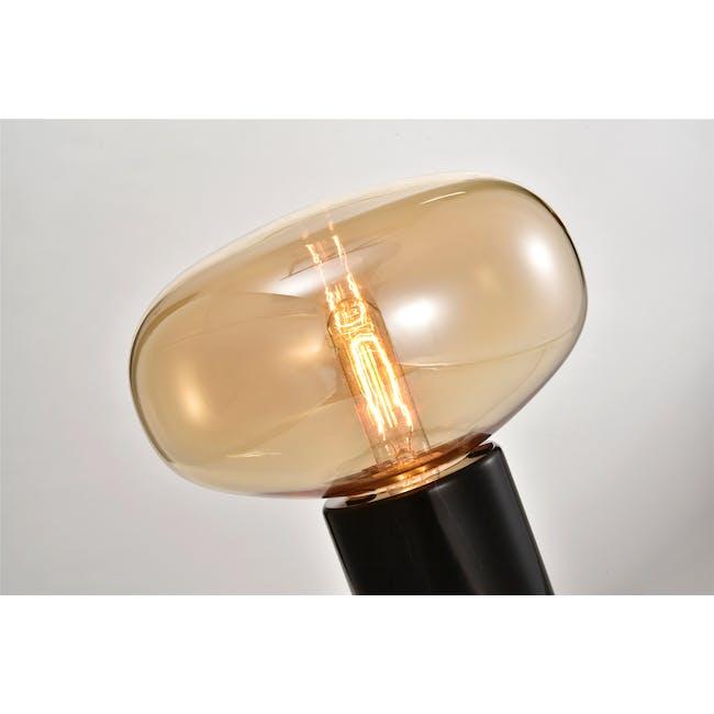 Karl Johan Marble Table Lamp - Black, Amber - 1