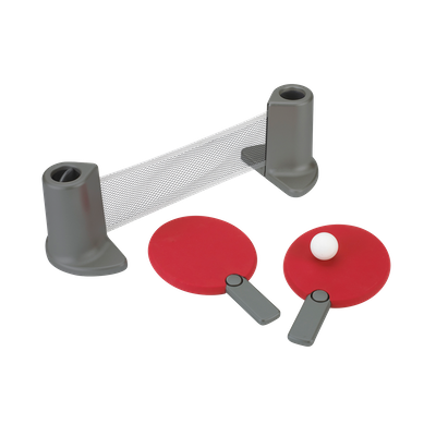 Pongo Table Tennis Set - Red, Charcoal - Image 1