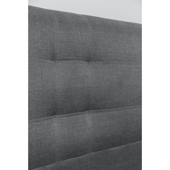 Chen Dynasty - ESSENTIALS King Headboard Storage Bed - Grey (Fabric)
