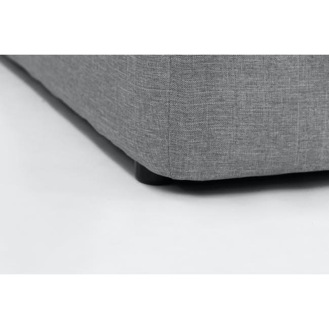 ESSENTIALS Queen Headboard Storage Bed - Grey (Fabric) - 4