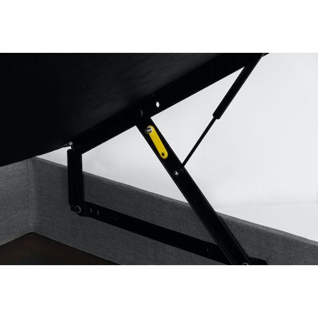 ESSENTIALS Queen Headboard Storage Bed - Grey (Fabric) - 5