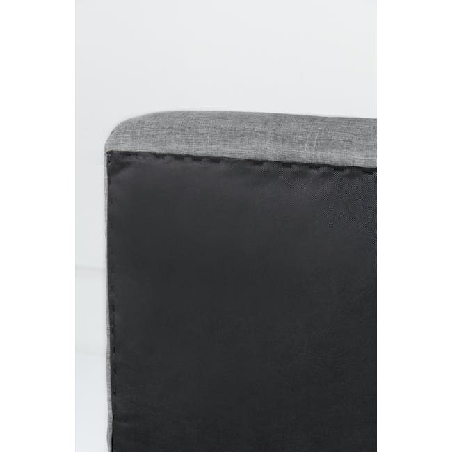 ESSENTIALS Queen Headboard Storage Bed - Grey (Fabric) - 6