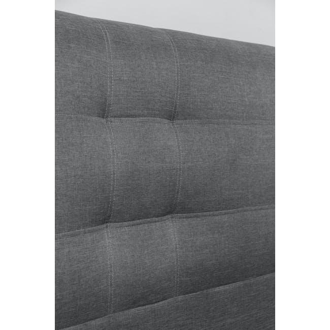 ESSENTIALS Queen Headboard Storage Bed - Grey (Fabric) - 7