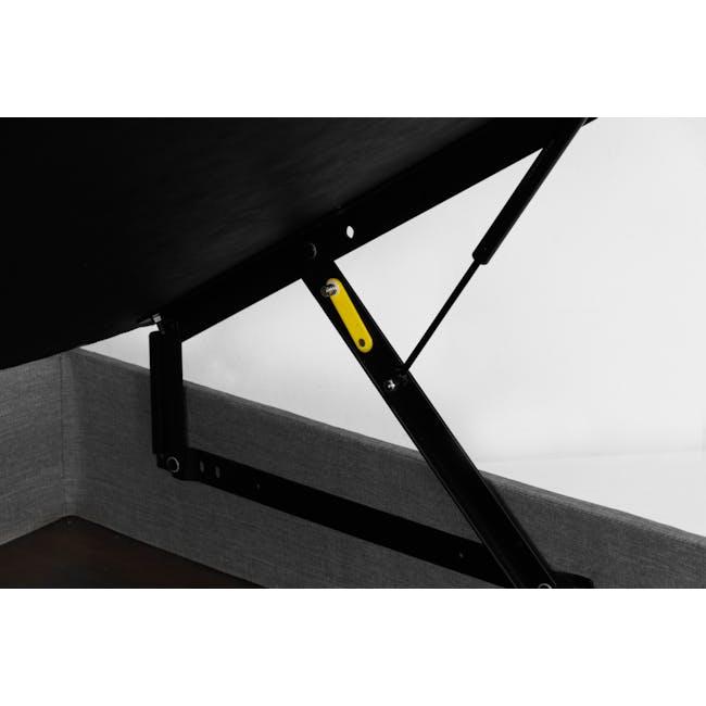 ESSENTIALS Single Headboard Storage Bed - Grey (Fabric) - 7