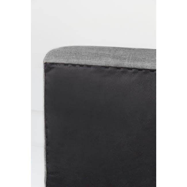 ESSENTIALS Single Headboard Storage Bed - Grey (Fabric) - 8