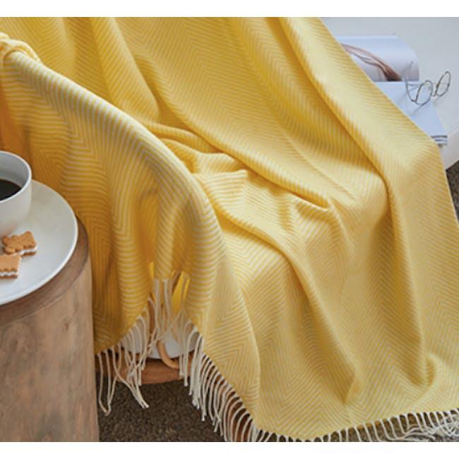 Jordie Stripe Throw - Canary - 2