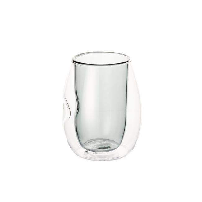 T2 Indented Double Wall Glass - Smokey Grey - 0