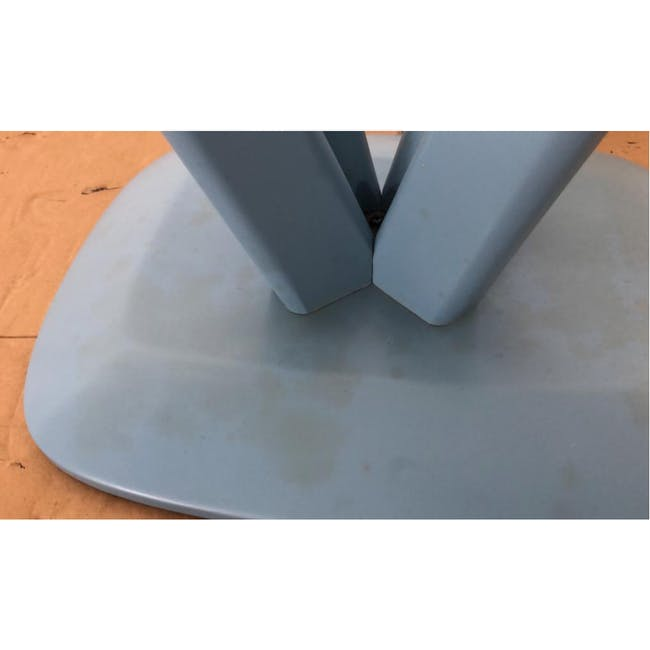 (As-is) Freya Counter Stool - Dust Blue Lacquered - 11 - 10