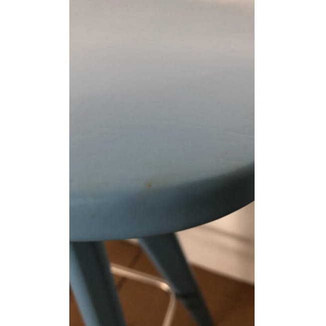 (As-is) Freya Counter Stool - Dust Blue Lacquered - 11 - 6