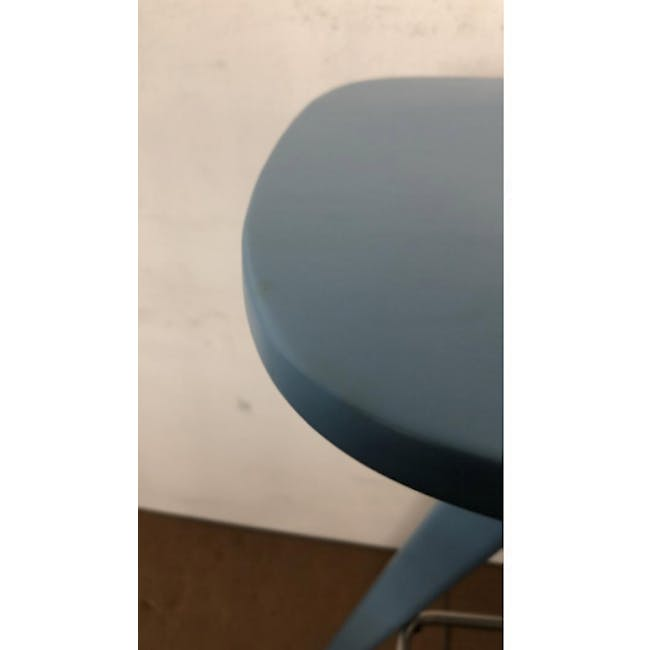 (As-is) Freya Counter Stool - Dust Blue Lacquered - 11 - 5