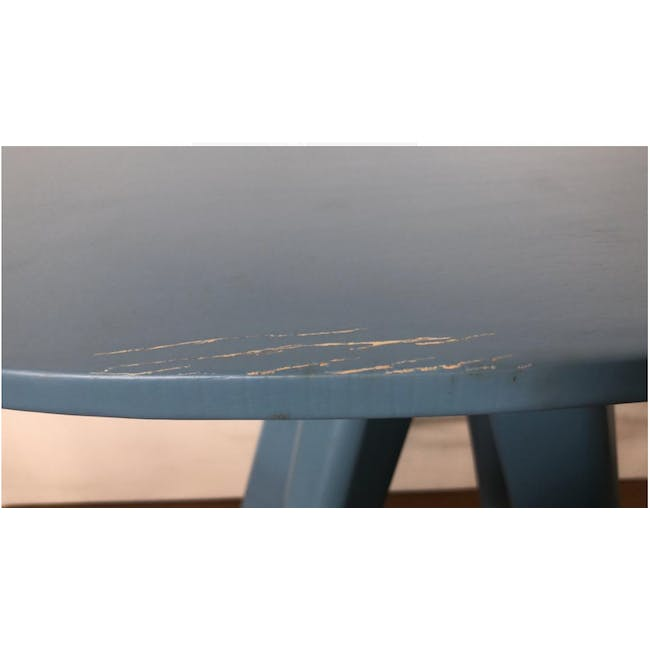 (As-is) Freya Counter Stool - Dust Blue Lacquered - 11 - 4