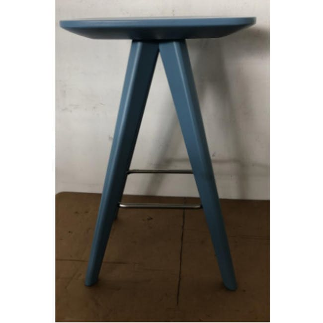 (As-is) Freya Counter Stool - Dust Blue Lacquered - 11 - 1