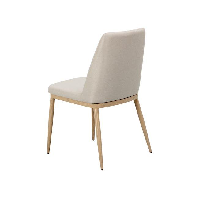 Kate Dining Chair - Oak, Beige - 3