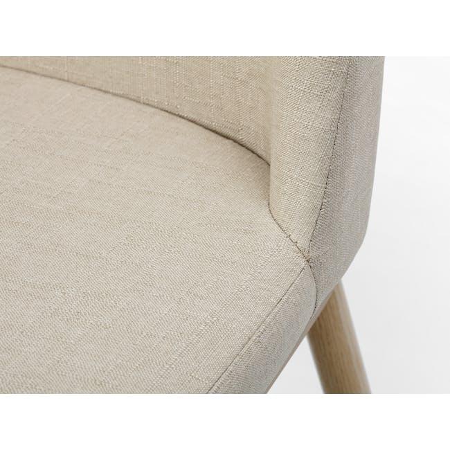 Kate Dining Chair - Oak, Beige - 5
