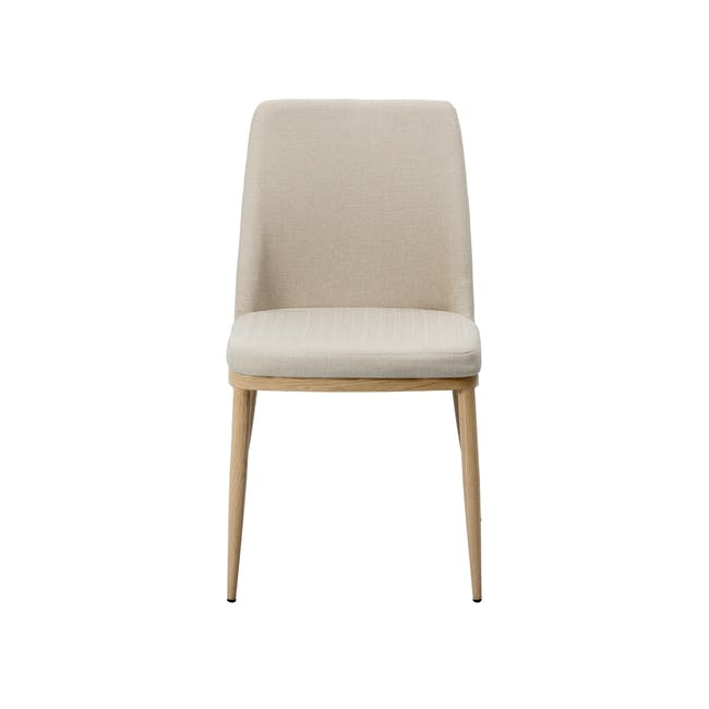 Kate Dining Chair - Oak, Beige - 2