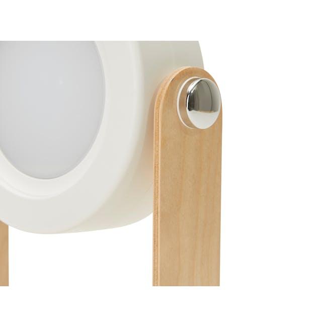 Faye Accordion LED Table Lamp - White - 6