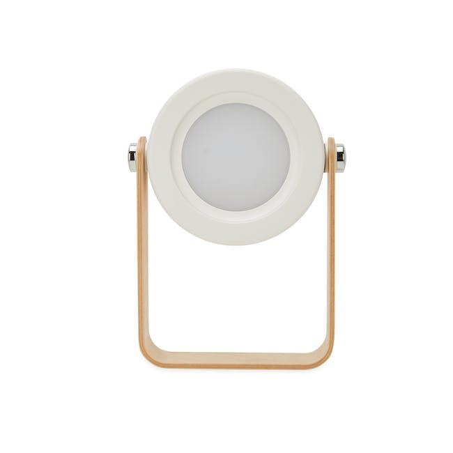 Faye Accordion LED Table Lamp - White - 2