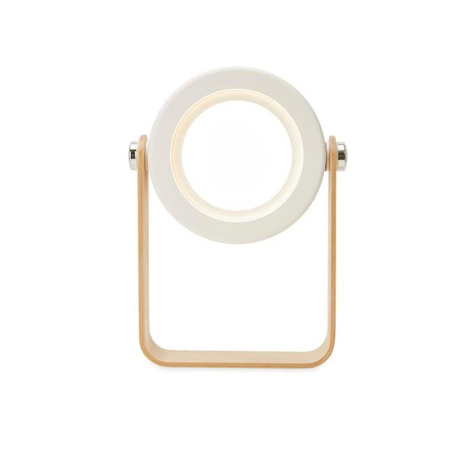 Faye Accordion LED Table Lamp - White - 3