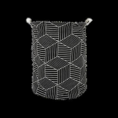 Cubes Laundry Basket - Black - Image 2
