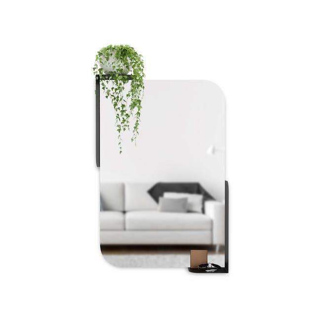 Alcove Wall Mirror with Shelf 76 x 50 cm - Black - 0