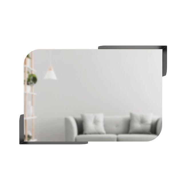 Alcove Wall Mirror with Shelf 76 x 50 cm - Black - 2