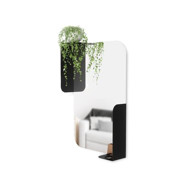 Alcove Wall Mirror with Shelf 76 x 50 cm - Black - 1