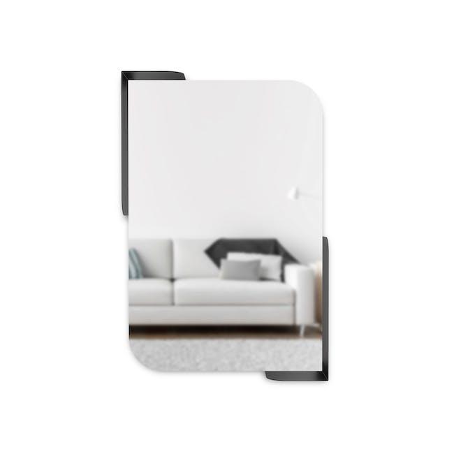 Alcove Wall Mirror with Shelf 76 x 50 cm - Black - 3