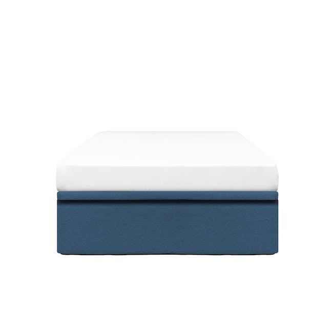 ESSENTIALS Super Single Storage Bed - Denim (Fabric) - 0