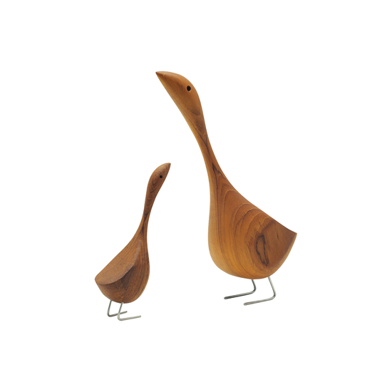 Helga - Ryan the Goose - Teak Wood Sculpture (Medium)