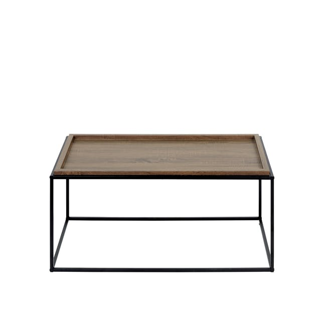 Lamont TV Console 1.2m in Grey with Dana Rectangular Coffee Table in Walnut - 10