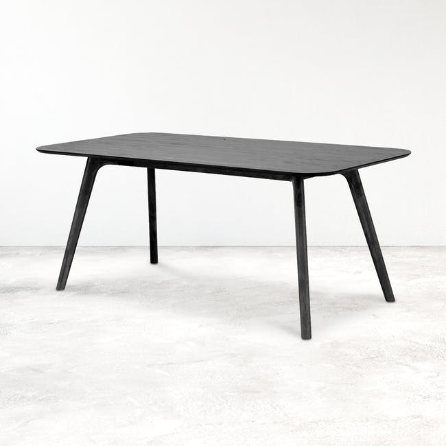 Roden Dining Table 1.8m - Black Ash - 1