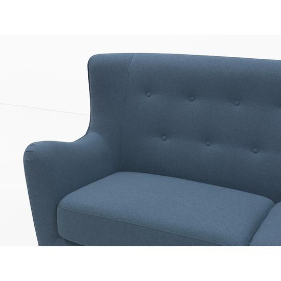 HipVan Bundles - Jacob 3 Seater Sofa with Jacob Armchair - Denim